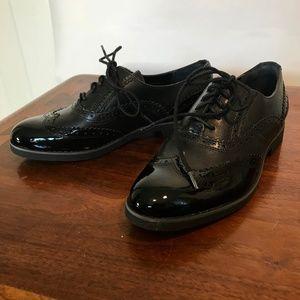 Rockport Black Patent Wingtip Shoes
